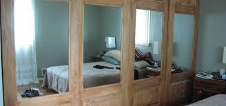 Mirrored Folding Closet Doors Furniture Traditional Dazzling Mirrored Interior Door 1