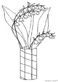 Coloriage pot de muguet