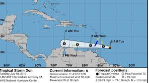 Map Of Eastern Caribbean by Tropical Storm Don Heads Toward Eastern Caribbean Fox News