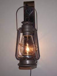 Cabin Light Fixtures Rustic Cabin Lighting Electric Lantern Wall Fixture From