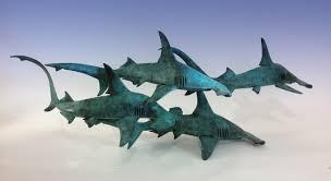 shark sculpture bronze hammerhead sharks hammerhead sharks by