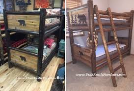Barnwood Bunk Beds Bradley S Furniture Etc Rustic Log And Barnwood Bunk Beds Inside