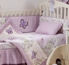 Purple Nursery Bedding Sets by Baby Nursery Fabulous Butterfly Baby Bedding Sets In Purple For
