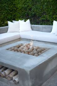 Concrete Firepits Custom Concrete Pit And Seating Best Table Ideas On Pinterest