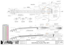 custom plans solid electric guitar plans 21 electronic version