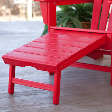 Recycled Plastic Furniture Polywood Recycled Plastic Big Daddy Adirondack Chair With Pull