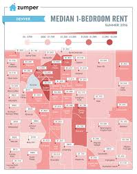 Portland Oregon Neighborhood Map by Mapping Denver Rent Prices This Summer August 2016 The Zumper Blog