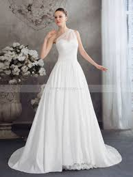 one shoulder wedding dress one shoulder organza and satin wedding dress with lace decor