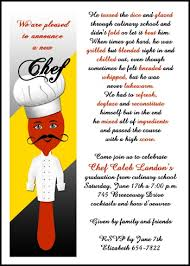 free cooking school graduation wording 99 culinary announcements