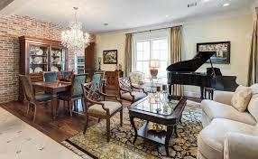 Red Oriental Rug Living Room Dark Wood Floor Dining Room Living Room Traditional With