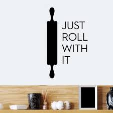 rolling pin quotes diy wall sticker home decor custom art wall