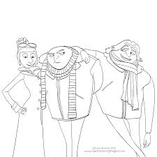 despicable me 2017 movie coloring pages lucy and twins gru and dru