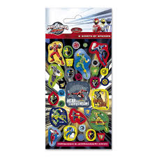 power rangers rpm sticker sheets partyware u0026 essentials party ark