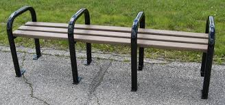 Park Benches Recycled Plastic Backless Park Bench Occ Outdoors
