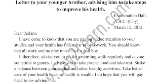 letter to your younger brother advising him to take steps to