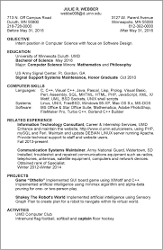 internship resume objective the best how to write a for