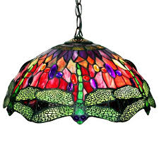 Stained Glass Ceiling Light Style Stained Glass Dragonfly Ceiling L Target