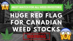 Huge Red Flag Must Watch For All Weed Stock Investors Canadian Weed Stocks