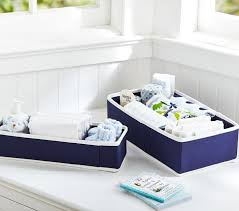 Changing Table Storage Navy Canvas Changing Table Storage Pottery Barn