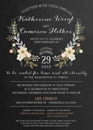 Wedding Invitations Utah Lds Wedding Invitation Wording Reduxsquad Com