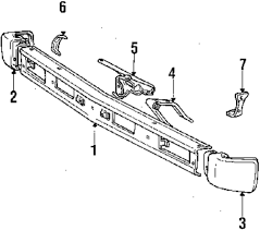 1986 dodge ram parts 1986 dodge ram 50 front bumper parts