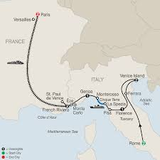 French Riviera Map France Tours Globus Western Europe Tours