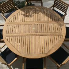 Round Wooden Outdoor Table Simple Decoration Round Outdoor Dining Table Smartness Inspiration