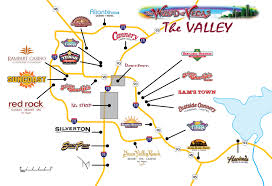 Map Of Casinos In Las Vegas by Las Vegas Maps Wizard Of Vegas