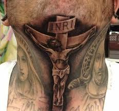 55 stylish cross neck tattoos