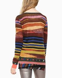 desigual sweater karin 17wwjfb4 stripes buy canada us