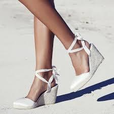 espadrille mariage mariée espadrille compense chaussures de mariée ivoire et de