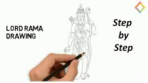 shree ram drawing step by step diwali competition drawing ideas