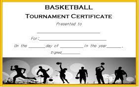basketball tournament certificate template basketball