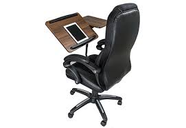 Office Chair Desk Office Chair With Integrated Laptop Desk Sharper Image
