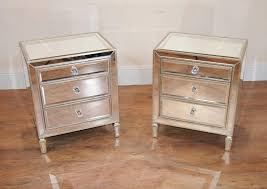 mirrored night stand tables rizz homes