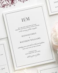 glam monogram letterpress wedding invitations letterpress