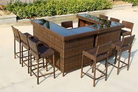 Outdoor Bar Table Magnificent Garden Bar Table With Outdoor Garden Bar Designs Video