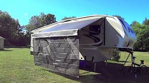 How To Make A Trailer Awning Installing Shadepro U0027s Vista Awning On My Rv Youtube