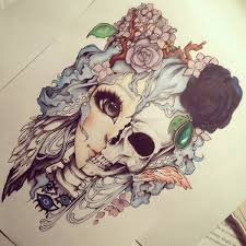 drawing pretty skull image 3207743 by