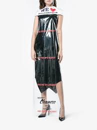 moschino s 736 cleaning bag dress is totally sheer and
