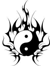 yin yang dragons design