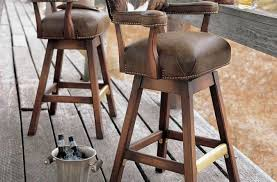 stool wood french country bar stool with high back design and