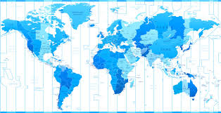 Time Zone Maps by World Time Zone