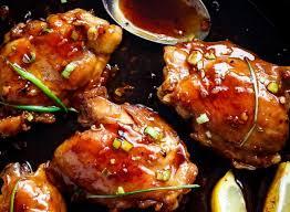 facile de haut de cuisse de poulet à la sauce teriyaki