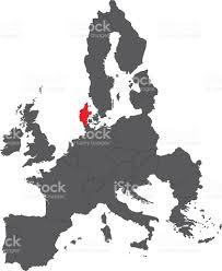 denmark red map on gray europe map vector stock vector art