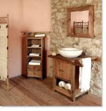 Rustic Bathroom Furniture Glamorous Bathroom Small Rustic With Wood Flooring En Vanity
