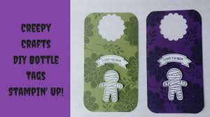 diy bottle tags stampin u0027 up creepy crafts cookie cutter punch