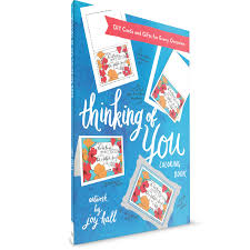thinking of you colouring book diy cards joy hall paperback