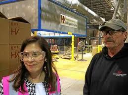 Seeking Vose Congresswoman Tours Hollingsworth Vose Plant