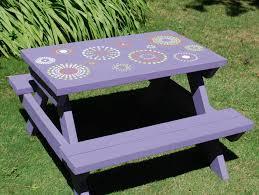 kid u0027s handmade hand painted picnic table 85 00 via etsy